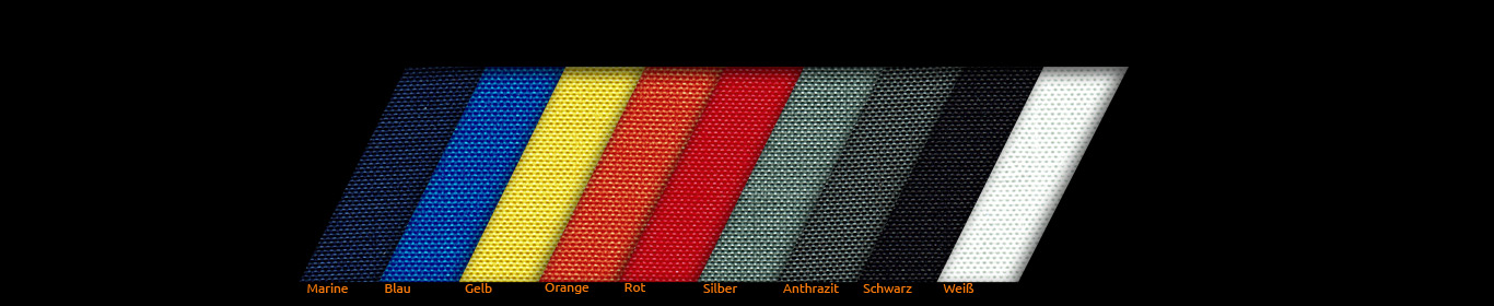 Cordura fabric samples and color fans