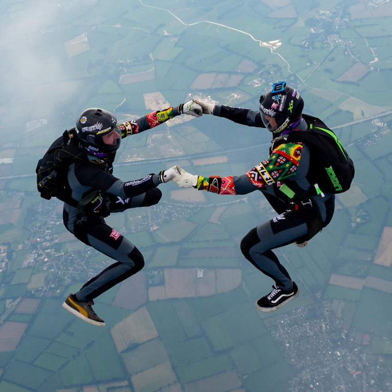 Individual look for skydiving