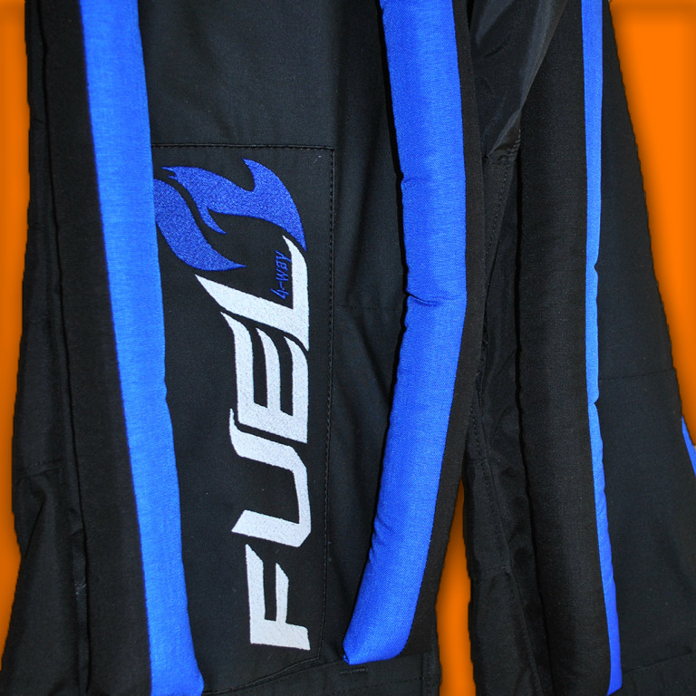 FUEL embroidery on formation suit